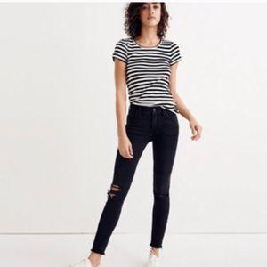 MADEWELL 9 inch Skinny Jeans in Black Sea